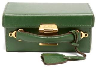 Mark Cross Grace Small Leather Cross Body Bag - Womens - Dark Green