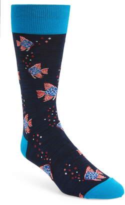 Bugatchi Fish Socks