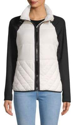 Long-Sleeve Quilted Jacket