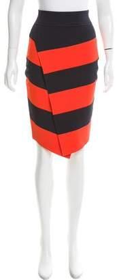 A.L.C. Striped Knee-Length Skirt