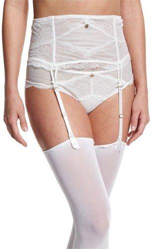 ChantelleChantelle Présage Lace Garter Belt, Milk