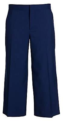 Marni Women's Tropical Cropped Wide-Leg Wool Pants