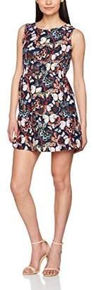 Yumi Women's Butterfly Knee-Length Sleeveless Dress,(Manufacturer Size: 38)