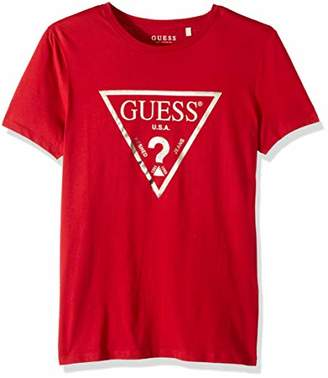 GUESS Men's Short Sleeve Classic Logo Crew Neck Tee