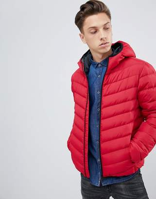 Brave Soul Hooded Puffer Jacket