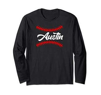 Austin Baseball Fan Long Sleeve T-Shirt
