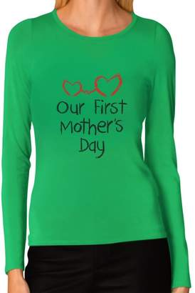 IDEA Tstars Our First Mother's Day - Mom and Baby Cutest Gift Women Long Sleeve T-Shirt