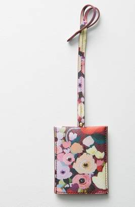 Anthropologie Picturesque Florals Luggage Tag
