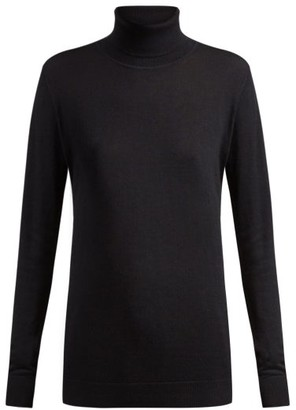 Raey Roll Neck Fine Knit Cashmere Sweater - Womens - Navy
