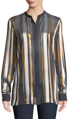 Lafayette 148 New York Brayden Ethereal Stripe Blouse