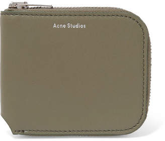 Acne Studios Kei S Leather Wallet - Army green