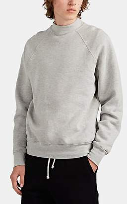Les Tien Men's Cotton Mock-Turtleneck Sweatshirt - Gray