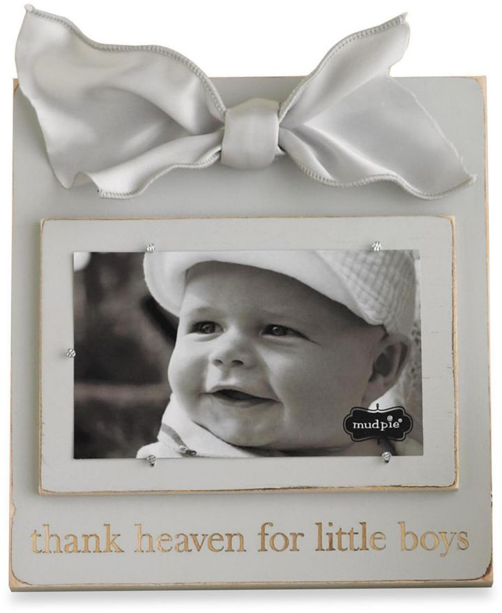 """Mud Pie Thank Heaven for Little Boys"""" Wood Photo Frame"""