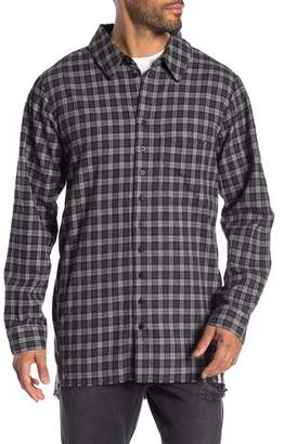 One Teaspoon Upsized Checkered Long Sleeve Shirt