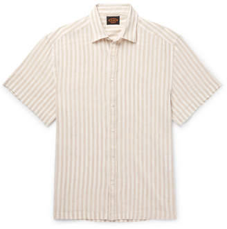 Tod's Striped Linen-Blend Shirt