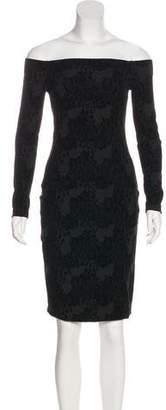 L'Agence Long Sleeve Mini Sheath Dress
