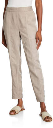 Eileen Fisher Pull-On Straight-Leg Ankle Pants