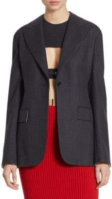 Calvin Klein Wool Checked Jacket