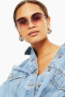 Topshop Melissa Hexagon Frame Sunglasses