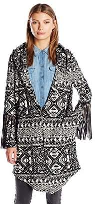 Haute Hippie Women's Coat With Leather Fringe