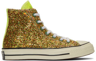 J.W.Anderson Gold and Silver Converse Edition Glitter Chuck 70 High Sneakers