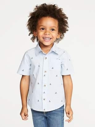 Old Navy Built-In Flex Shark-Fin Shirt for Toddler Boys