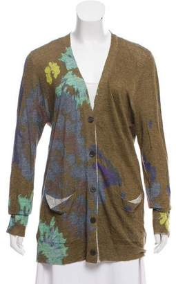 Dries Van Noten Long Sleeve Floral Print Cardigan