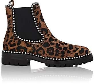 Alexander Wang Women's Spencer Leopard-Print Calf Hair Chelsea Boots - Brown Pat.