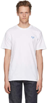 A.P.C. White and Blue Emeric T-Shirt