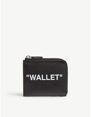Off-White Quote leather coin purse