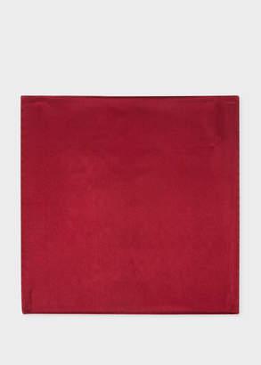Paul Smith Men's Burgundy Silk Pocket Square