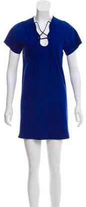 Emilio Pucci Suede Lace-Up Dress