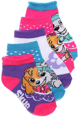 Nickelodeon Paw Patrol Kids No Show Socks - 5 Pack - Girl's