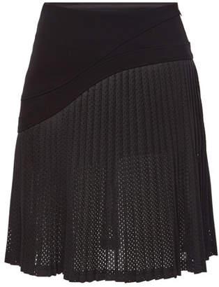 Karl Lagerfeld Pleated Mesh Skirt