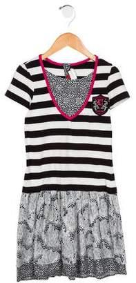 Catimini Girls' Graphic Print Short Sleeve Dress