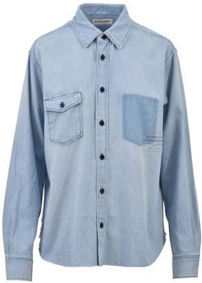 Saint Laurent Washed Blue Denim Shirt