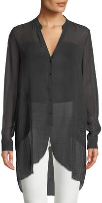 Go Silk Go Sheer Silk Button-Down Duster