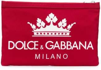 Dolce & Gabbana small logo print pouch