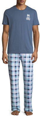 Psycho Bunny Men's Relaxed Logo-Print Lounge Pants