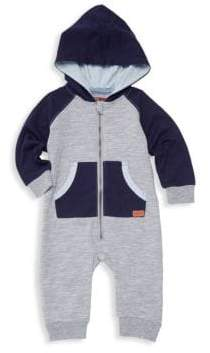 7 For All Mankind Baby Boy's Raglan-Sleeve Hooded Coverall