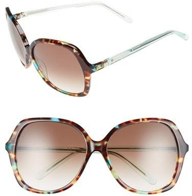 Kate SpadeWomen's Kate Spade New York 'Jonell' 58Mm Oversized Sunglasses - Green