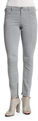 ATM Anthony Thomas Melillo Stretch Twill Skinny Moto Pants, Sage $325 thestylecure.com