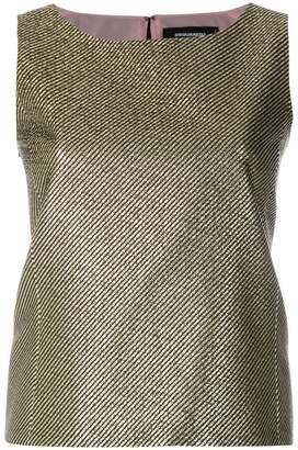 DSQUARED2 metallic woven sleeveless top