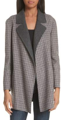 Theory Clairene Plaid Coat