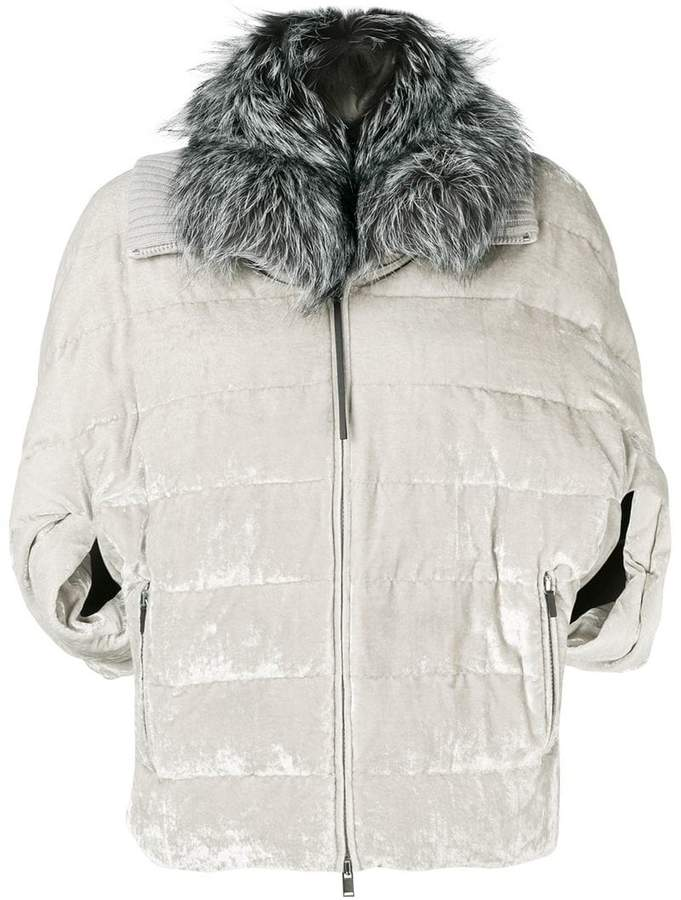 Off White Single Breasted Double Wool Coat Stile Und