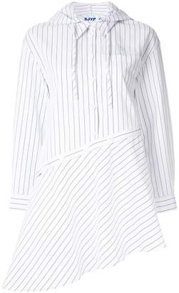 Sjyp hooded unbalanced shirt