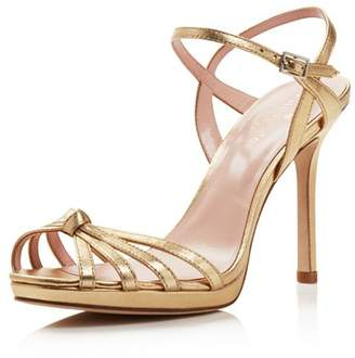 Kate Spade Women's Florence Leather High-Heel Ankle Strap Sandals