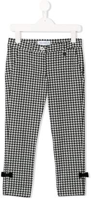 Simonetta houndstooth check trousers