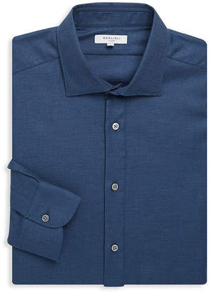 Boglioli Slim-Fit Spread Collar Dress Shirt