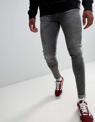 Dr. Denim Leroy super skinny jeans in boulder gray